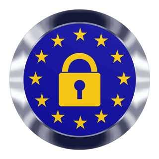 Adatvédelmi GDPR logó lakattal
